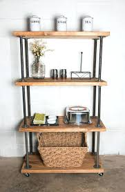 Industrial Metal Bookshelf Bookcase Iron Bookcase Wood Shelves Metal Bookcase With Wood