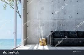 minimal room new 3d rendering interior minimal living stock illustration