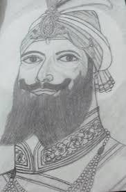 sketch of guru gobind singh ji painting by timpi cheema