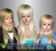newsea lydia female male hairstyle ts3 female hair pinterest