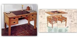 Arts And Crafts Writing Desk Arts And Crafts Desk Plans U2022 Woodarchivist