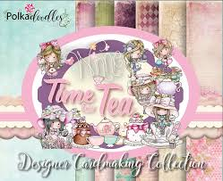 ldrs creative polkadoodles time for tea card kits