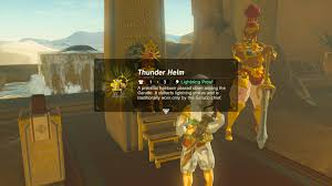 zelda breath of the wild guide how to get the thunder helm polygon