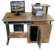 Charles Jacobs Computer Desk Simple Workstation Computer Desk Manufactured Wood Material Dark