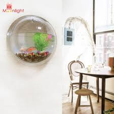 wholesale best acrylic transparent wall plant hanging vase wall