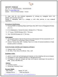 Best Resume For Freshers by Freshers Cv Format 100 Resume Format For Experienced Sample