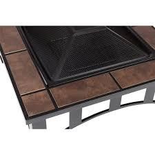 tile square fire pit