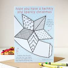 colour in star tree topper christmas card by clara and macy