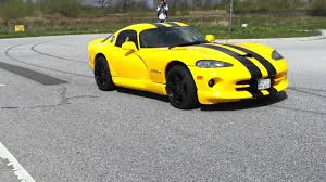 Dodge Viper Yellow - dodge viper gts start up and acceleration youtube