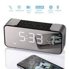fail bedside alarm clock with bluetooth speaker wireless stereo