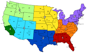 Florida Regions Map by Usa Elite Select