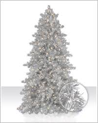 narrow silver tinsel artificial tree tree market