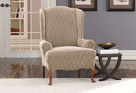 wing chair slipcover sure fit category slipcover for wingback chair serbyl decor
