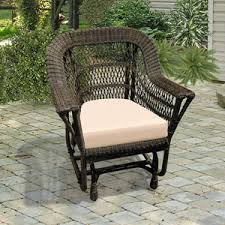 Outdoor Single Glider Chair Outdoor Rockers And Gliders