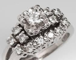 vintage wedding ring sets vintage wedding ring set etsy