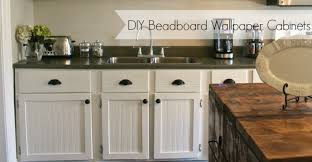 How To Reface Cabinets With Beadboard Diy Beadboard Wallpaper Cabinets Nest Of Bliss
