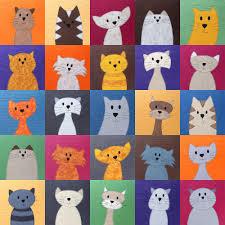 cats quilt pattern shiny happy world