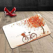 floor and decor orange park amazon com custom machine washable door mat bicycle decor autumn