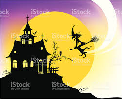 haunted house clipart free haunted house silhouette stock vector art 167592673 istock