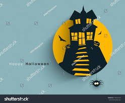 halloween party invitation background tag label sticker haunted house halloween stock vector 146947265
