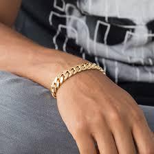 cuban link bracelet men images Mens cuban link bracelet in 14k gold 12mm 8 5 inches cuban style jpg