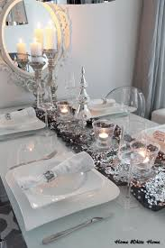 elegant silver and white christmas table decorations 19 on home
