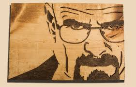 breaking bad 3d sculptured wall hanging wooden walter white