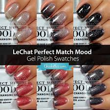 lechat perfect match mood gel polish swatches deep sea u0026 starry