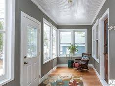 Beadboard Porch Ceiling by Painted Beadboard Ceiling In Bathroom Replace That Weird Thick