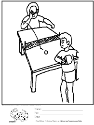 12 table tennis coloring page to print print color craft