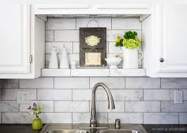 Subway White Marble Backsplash Tile Idea Backsplashcom - Backsplash white
