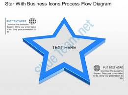star with business icons process flow diagram powerpoint template