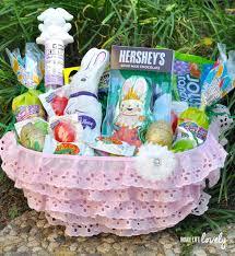 easter basket for diy pink ruffle easter basket for make lovely