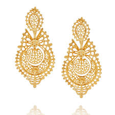large earrings large gold filigree earrings peterson london