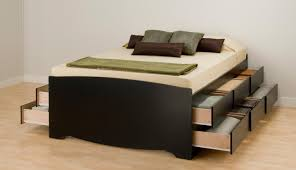 daybed black wooden queen size bed frame with double side