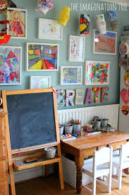 how to make a child s desk creative arts area and gallery for kids imagination station