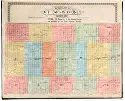 Rare Maps Collection Of The by Standard Atlas Of Kit Carson County Colorado Including A Plat