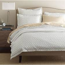 legends trellis taupe sateen duvet cover the company store