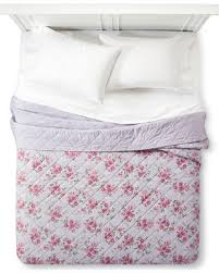 slash prices on purple berry rose linen blend quilt twin