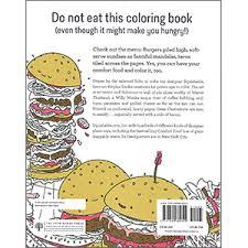 cinnamon bun dreams comfort food coloring book adorable