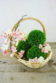 Topiary Balls With Flowers - sedum balls 4in faux succulents
