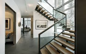 Stair Banisters And Railings Interior Glass Stair Railing Houzz