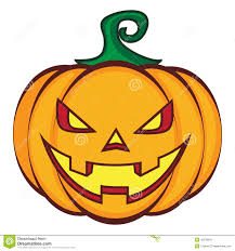 halloween cartoon pumpkin jack lantern isolated on stock vector