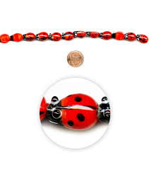 Ladybug Desk Accessories Blue Moon 7 Strand Lworked Glass Ladybug Joann