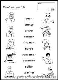 printable occupations communtiy helpers kids worksheets