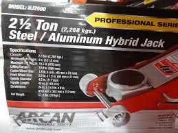 Arcan Car Jack by Arcan 2 5 Ton Steel Aluminum Hybrid Jack
