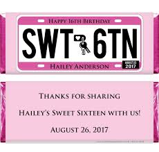 sixteen license plate birthday 1 55 oz hershey u0027s candy bar wrappers