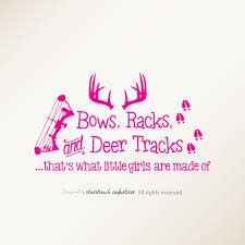Nursery Wall Decals For Girls by Bows Racks U0026 Deer Tracks That U0027s What Little Girls Are Made