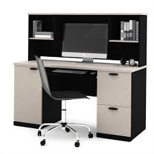 Granite Computer Desk Hton Computer Desk With Hutch In Sand Granite Charcoal