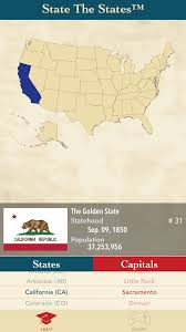 50 States Map With Capitals by State The States Mobile App For Ios U0026 Android U2013 Ecom Enterprises